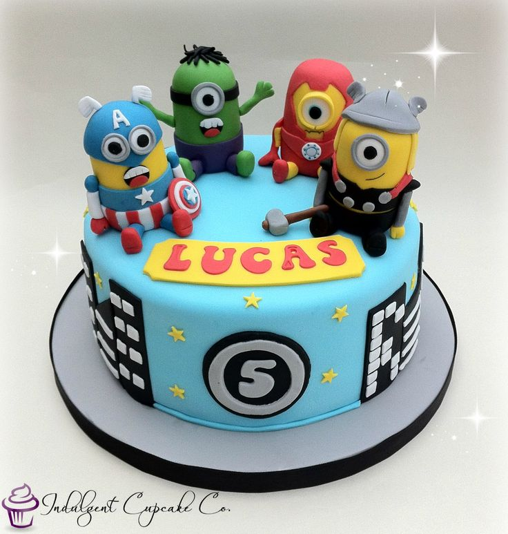 Avengers Minion cake......