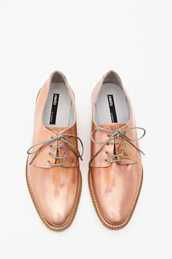 Zoe Hologram Oxford - Rose Gold in Shoes at Nasty Gal i think it's safe to say these shoes were created for me
