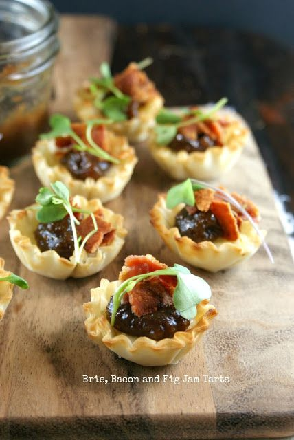 Authentic Suburban Gourmet: Brie, Bacon and Fig Jam Tarts | Secret Recipe Club