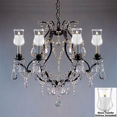 Crystal Chandelier W Candle Votives H19 W20