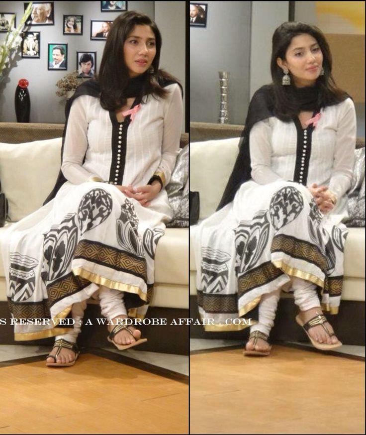Pakistani Actress and Model Mahira Khan in White casual semi formal
