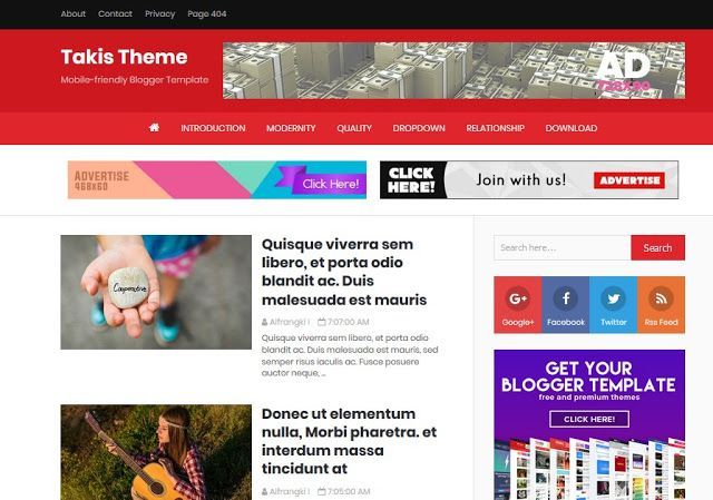 Download Top 10 Best Free Blogger Templates Or Theme In 2019