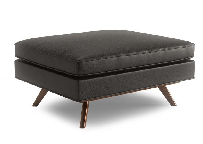 The Taylor Leather Ottoman By Thrive Furniture