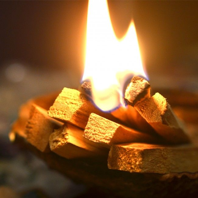 While you are meditating, burn Palo Santo wood, sitting with it and nursing the flame. It surrounds you with positive energy to inspire creativity.