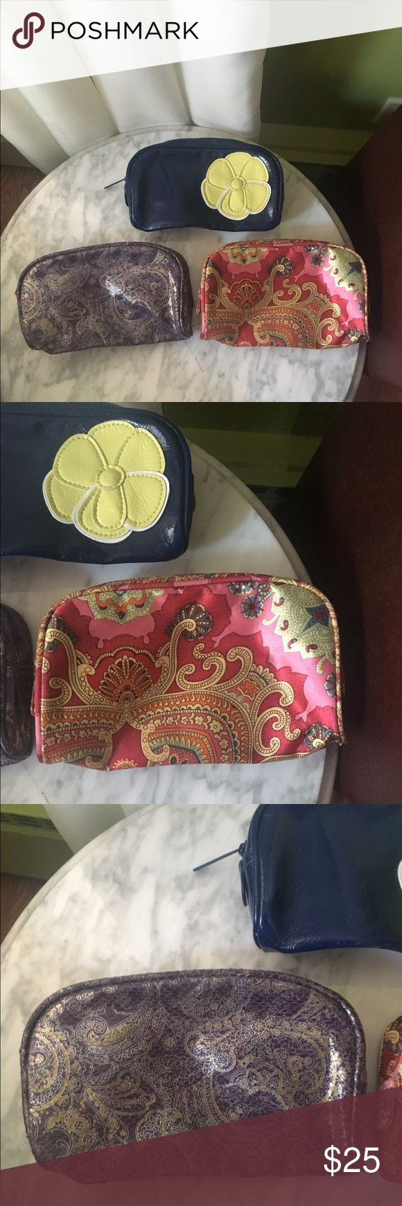 Collector Bundle of Bare Escentuals Cosmetic Bags Never used set of 3 Bare Escentuals Cosmetic bags. Variety of colors and prints. Bare Escentuals Bags Cosmetic Bags & Cases