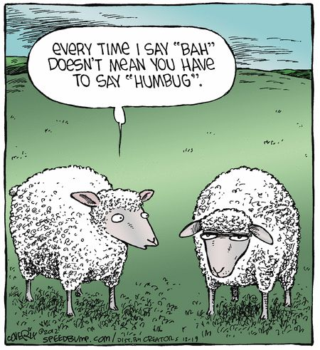 """Bah... Humbug...      - """"Speed Bump"""" by Dave Coverly;  12/19/12"""