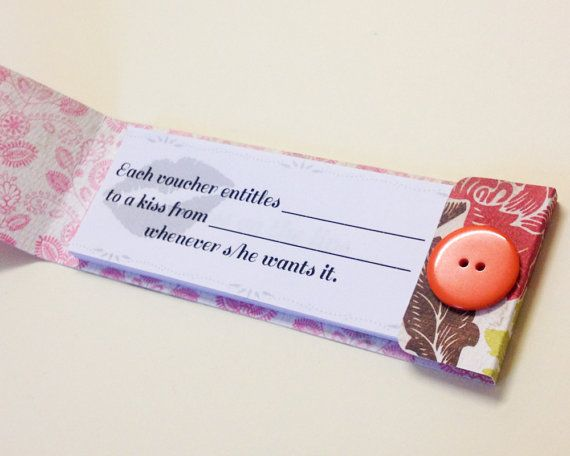 kissing vouchers, a cute valentines gift for couples!