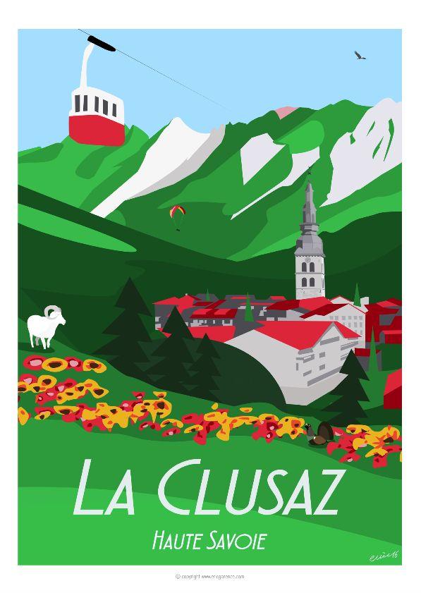 La magnifique et authentique LaClusaz, son espace outdoor et sa vie en été. L'ancien télécabine 8 places de Beauregard, son Gypaète barbu si rare… son noble etvulnérable Grand tétras …