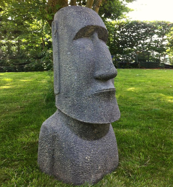 moai statue 1 mtr height made of beton and clay other. Black Bedroom Furniture Sets. Home Design Ideas