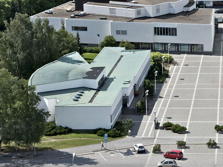 Aalto Centre Aalto's library (under remodelling until 2014): You can see the shape of a book when you view the building from a high place. - South Ostrobothnia province of Western Finland. - Etelä-Pohjanmaa.