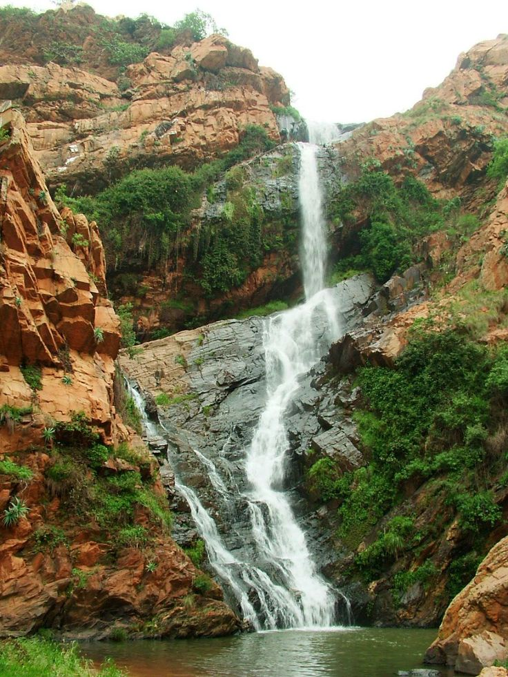 Waterfall in the Walter Sisulu Botanical Gardens in Jo'burg, South Africa.