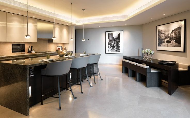 Kitchen is Baulthaup designed and equipped with Gaggenau appliances