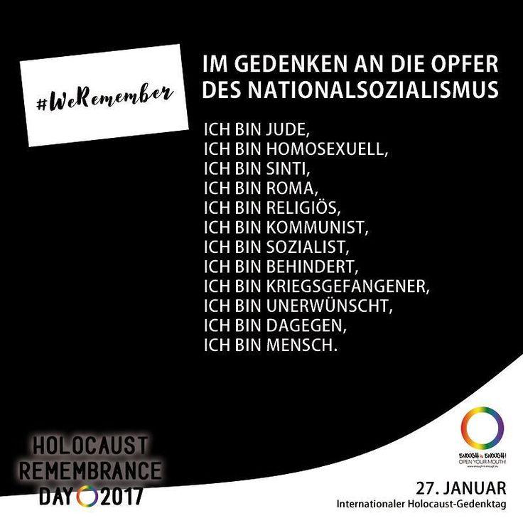 #WeRemember  Der Tag der auf den Jahrestag der Befreiung des KZ Auschwitz concentration camp durch die Rote Armee im Jahr 1945 verweist wurde vor der UN-Proklamation unter anderem bereits in Großbritannien und Deutschland (Tag des Gedenkens an die Opfer des Nationalsozialismus seit 1996) als Gedenktag begangen. Israel begeht seit 1951 mit dem Jom haSchoa einen eigenen Gedenktag mit anderem Datum. #EnoughisEnough #DontForget #NeverAgain #StopHomophobia #LGBTI #Community