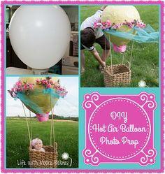 Life with Moore Babies: DIY Hot Air Balloon Baby Photo Prop