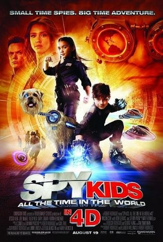 Spy Kids 4: All the Time in the World - lame movie but it has a character with hearing aids who isn't portrayed as stupid :-) :-) and has some genuine HA humour in it