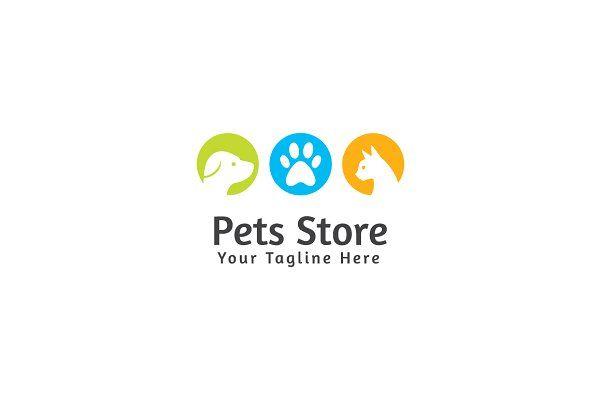 Pets Store Logo Template Mascotas
