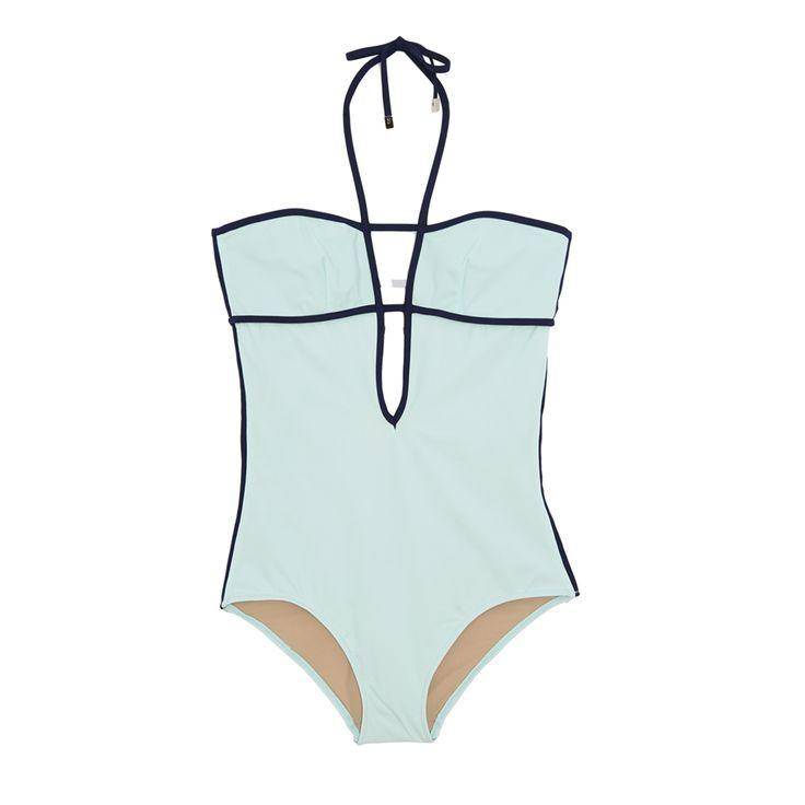 #Swimwear  Swimwear & Beachwear for Women : Araks Harlow One Piece Glacier Navy Combo
