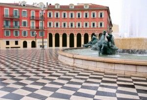 Plaza Massena Square in Nice - French Riviera, South of France