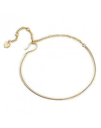 Pink Lou Lou Gold Fine Bracelet with Chain