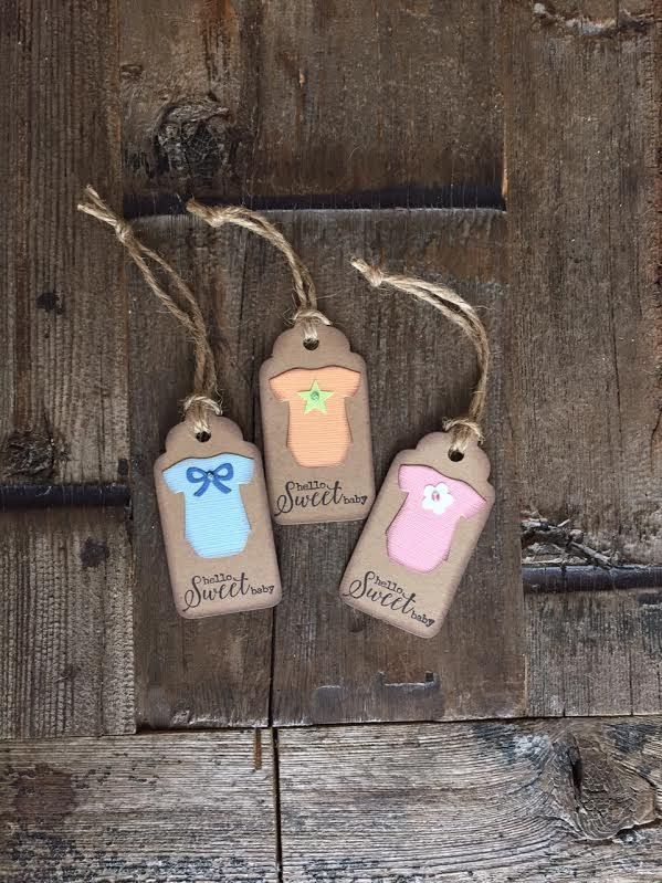 "Tags - ""Hello Sweet Baby"" Gift Tag"