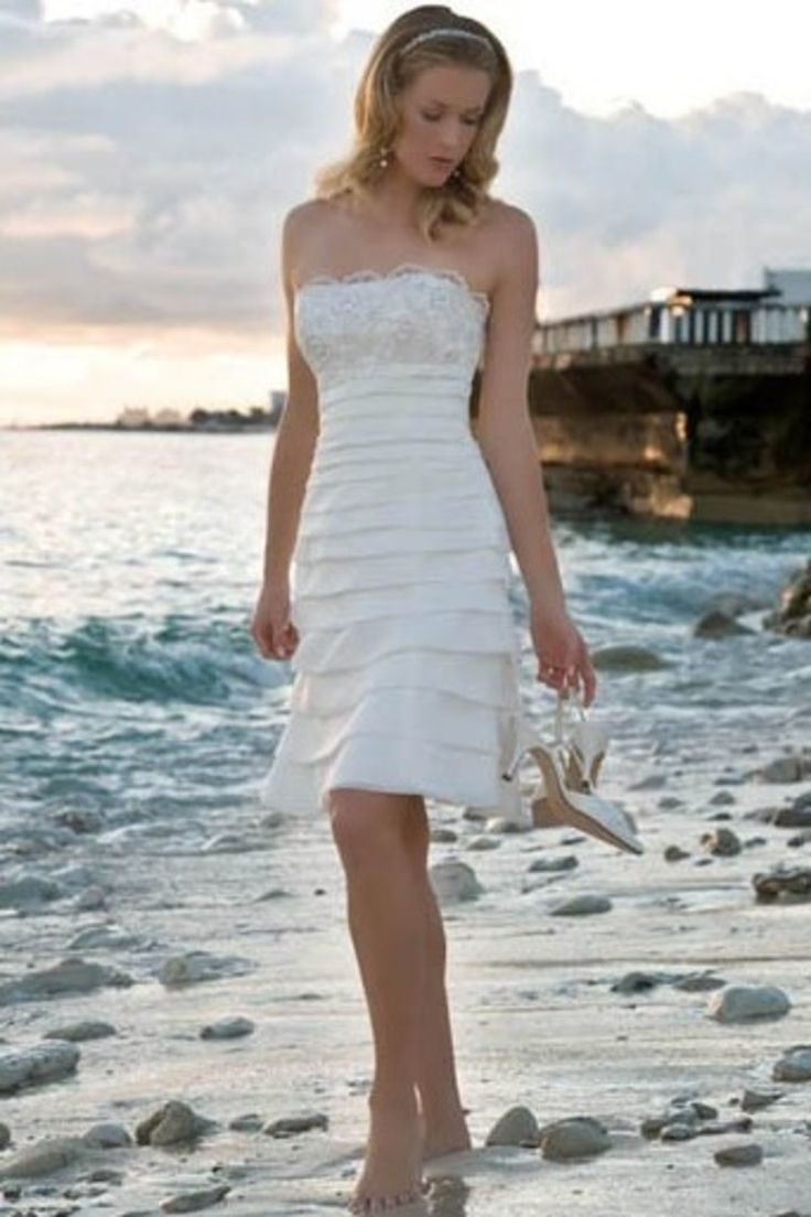 76 best Beach Wedding Dresses images on Pinterest | Short wedding ...
