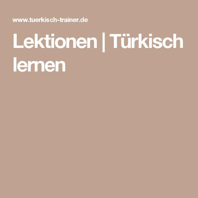 Lektionen | Türkisch lernen
