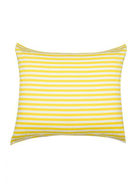 Tasaraita pillowcase (white, yellow) |Décor, Bedroom, Pillowcases | Marimekko