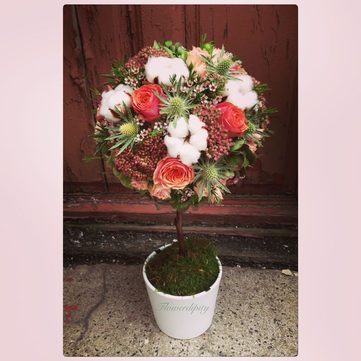 Autumn flowers tree #flowerdipity #corporate #delivery #flowers #tree #orange #green #white #pot