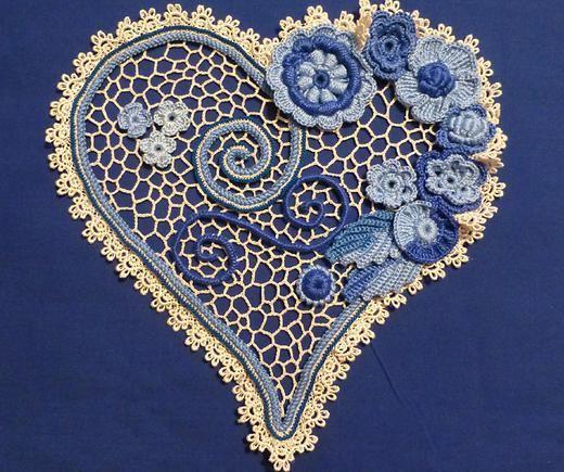 Flower Heart crochet pattern $10 - design from Larisa