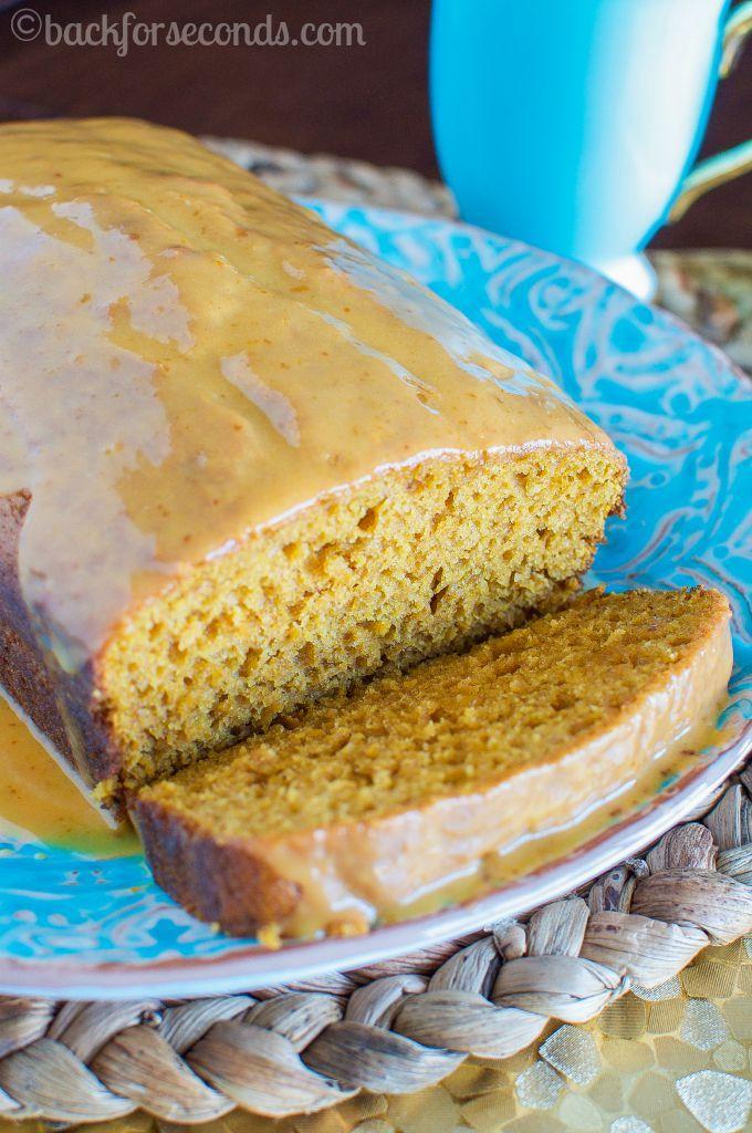 Best Pumpkin Bread with Pumpkin Glaze - Back for Seconds