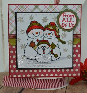 Made With Love Cards: Snow Family Christmas Card!