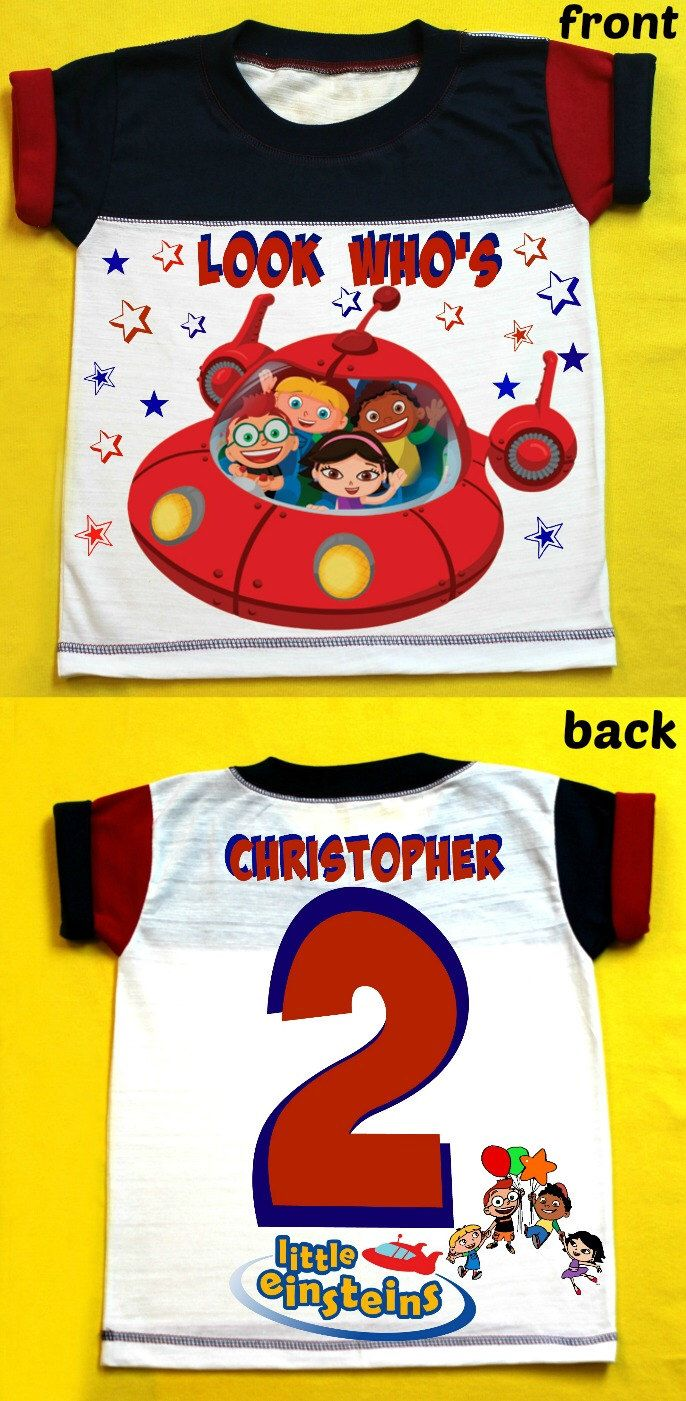 Little Einsteins- Personalized T-Shirt Red and Dark  Blue 12M,18M, 2nd 3rd 4th 5th 6th Personalization is included at no additional cost. by FantasyKidsDesigns on Etsy https://www.etsy.com/listing/264043670/little-einsteins-personalized-t-shirt