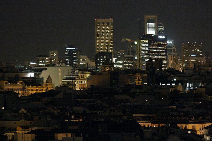 Rascacielos de Madrid desde el CBA 01 - Madrid - Wikipedia