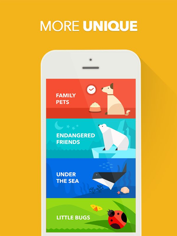 inspiring_ Mobile App #playtangram #Colorful #Modern #Minimal #ios #iphone