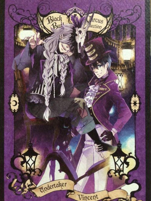 Kuroshitsuji: Book of circus. Animate limited tokuten cards. Vincent & Undertaker.