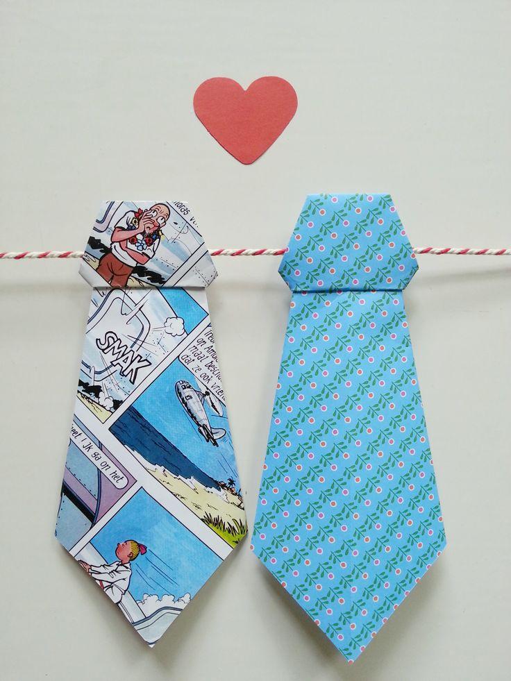 diy stropdas voor vaderdag, origineel knutsel idee