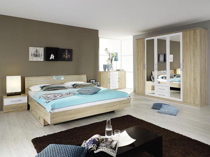Leinwandbilder schlafzimmer ~ Großes leinwandbild im schlafzimmer und großes doppelbett fenix