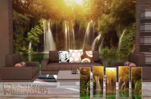 Anarchy-Cat: Waterfall wallpapers • Sims 4 Downloads