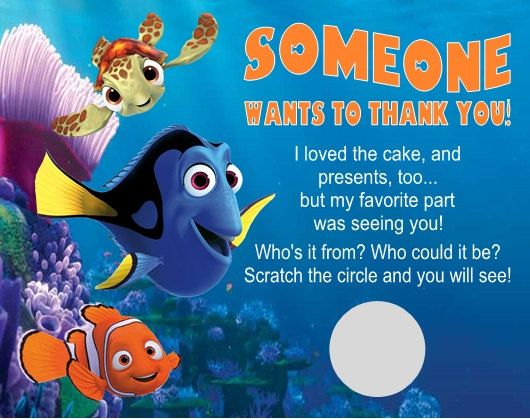 17 Best images about 1 Year Old Birthday Ideas – Finding Nemo Birthday Cards