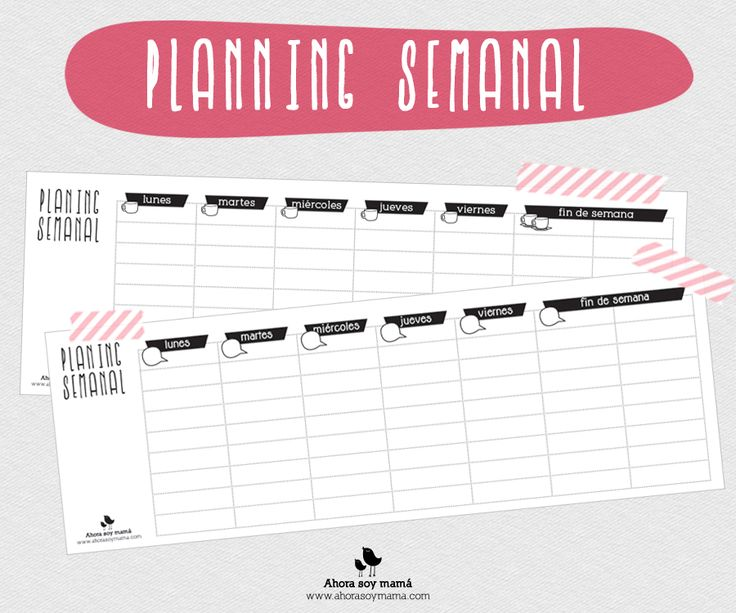 Planning semanal (descargable gratuito)