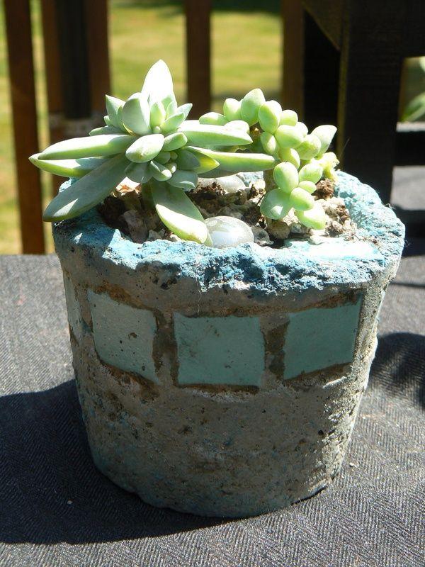 Hypertufa ideas tufagems hypertufa planters elevated for Concrete craft molds