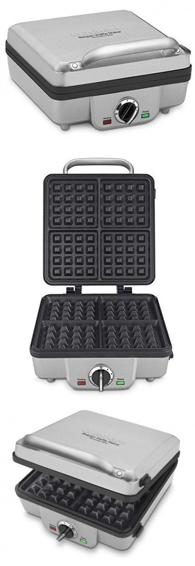 Best Pancake And Belgian Waffle Maker Iron- This Brushed Stainless Pancake and Belgian Waffle Maker Offers Removable Plates Six-Setting Temperature Control Indicator Lights Timer For The Perfect Meal