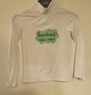 t-shirt versieren met Eva Mouton