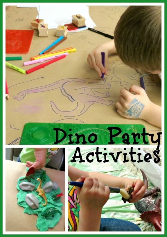 Organized activities for a Dino Party (keeps the chaos to a minimum!)