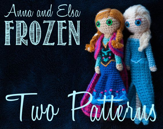 Amigurumi Frozen : Anna and elsa frozen amigurumi crochet patterns disney