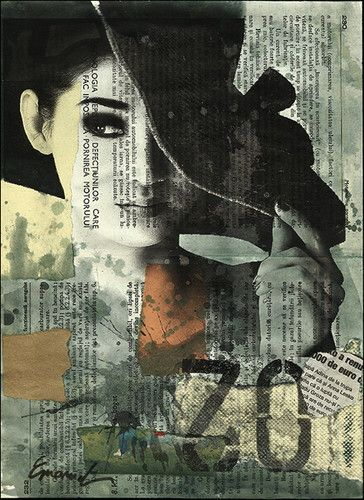 For those days when you want to play. mixed media collage