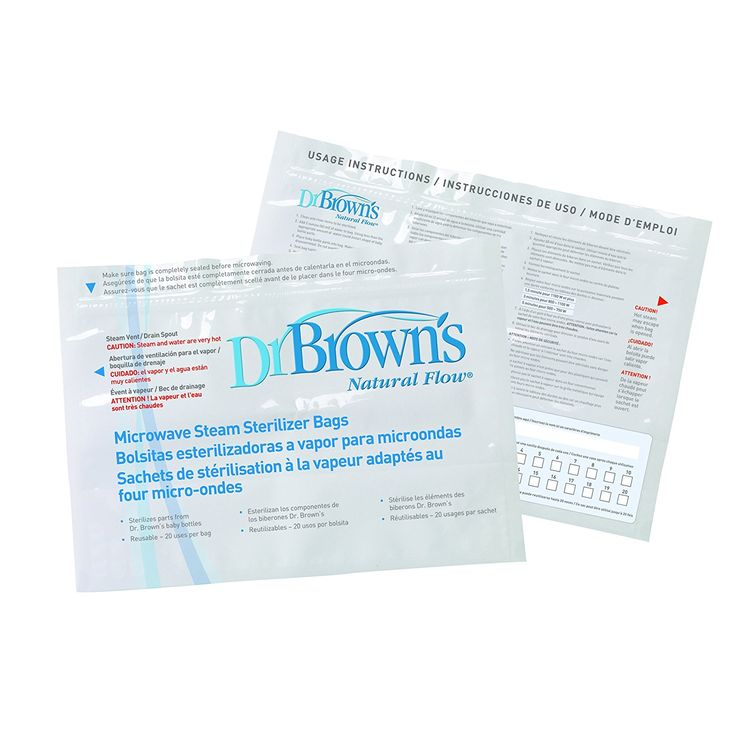 Dr Brown's Natural Flow Microwave Steam Steriliser Bags: Amazon.co.uk: Baby