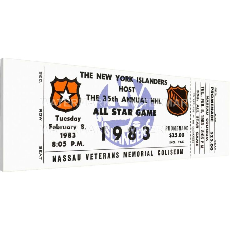 That's My Ticket 1983 NHL All-Star Game Ticket, Team