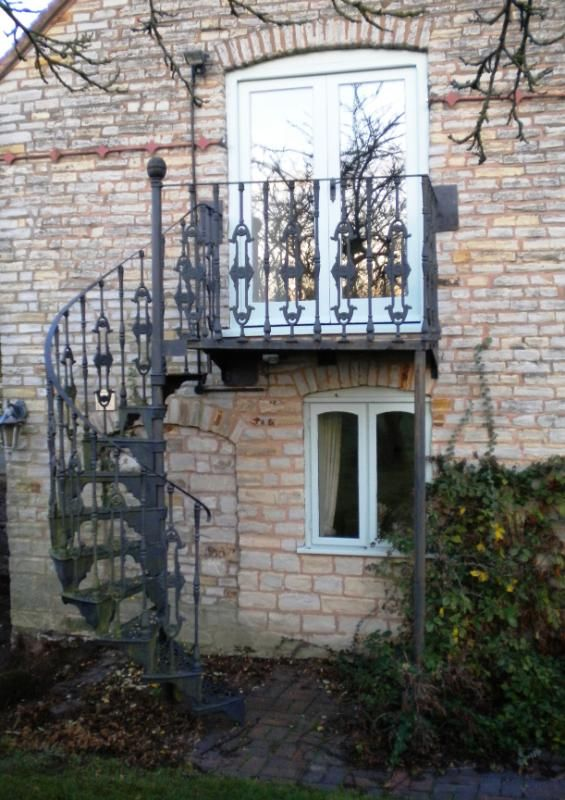 balcony with stairs | Excellent Reclaimed Cast Iron Spiral Staircase,balcony,outside,spiral ...