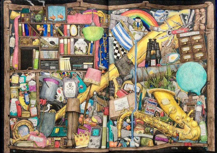 Fantastisches Malbuch. Colin Thompson. Coloured by Prue from Colouring+ with Prue